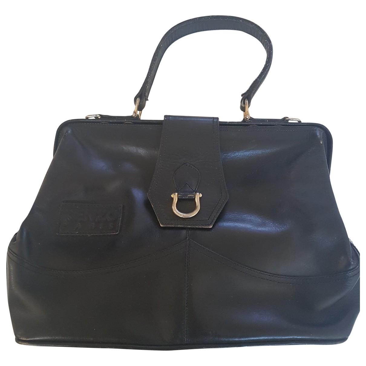 Kenzo \N Handtasche in  Schwarz Leder