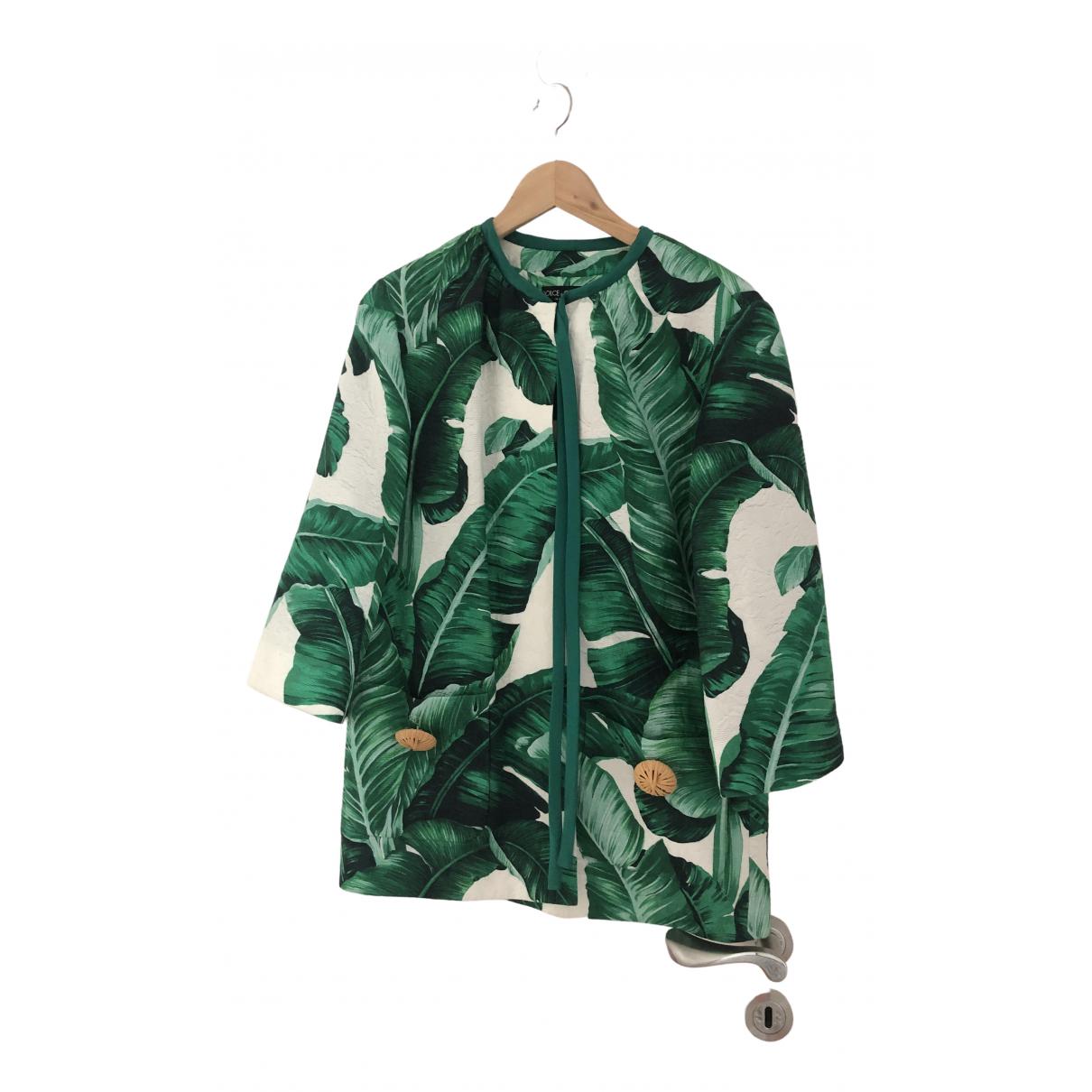 Dolce & Gabbana \N Green Silk jacket for Women 38 IT