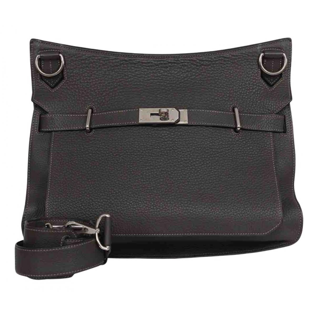 Hermès Jypsiere Black Leather handbag for Women N