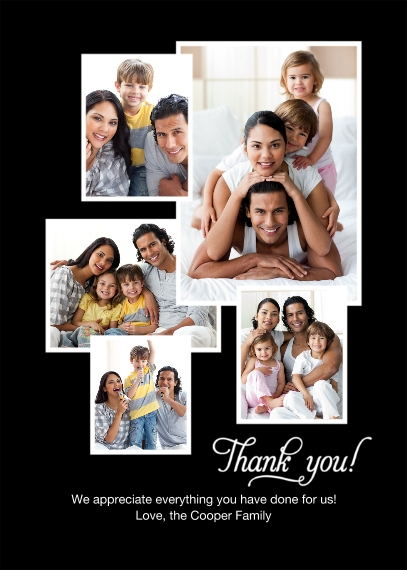 Thank You Cards 5x7 Cards, Premium Cardstock 120lb, Card & Stationery -Thank You Collage