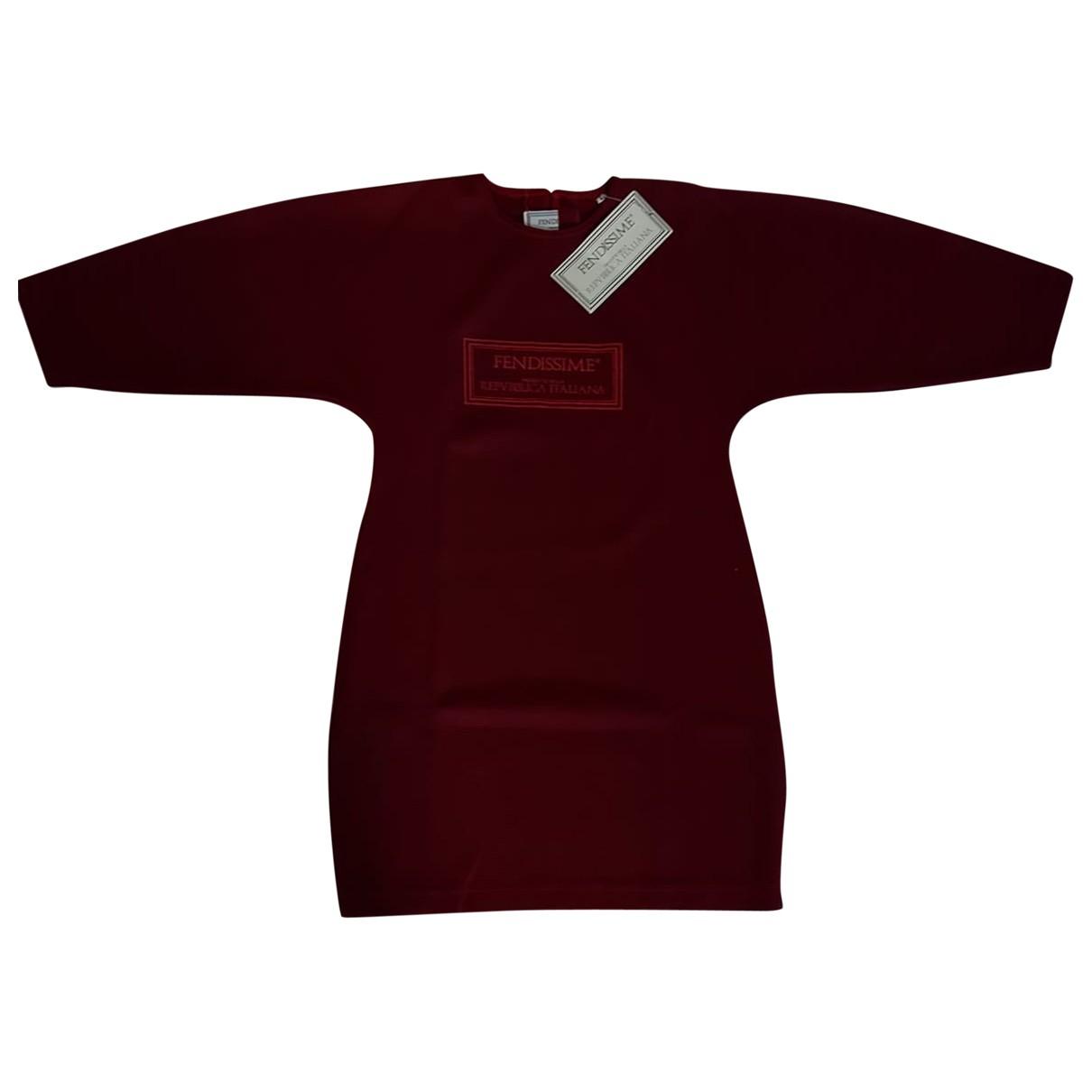 Fendissime - Robe   pour femme en coton - bordeaux