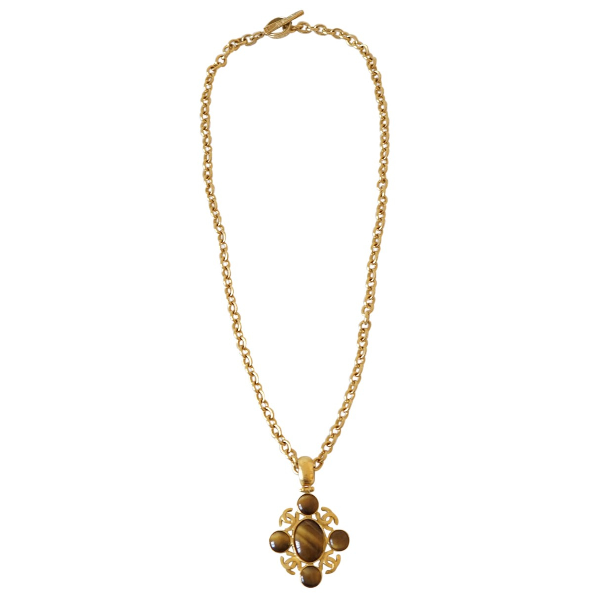 Chanel - Sautoir CC pour femme en metal - dore