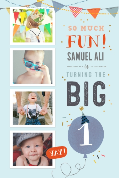 Baby + Kids 20x30 Poster(s), Board, Home Décor -So Much Fun Turning One