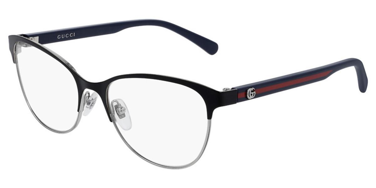 Gucci GG0718O 006 Women's Glasses Black Size 53 - Free Lenses - HSA/FSA Insurance - Blue Light Block Available