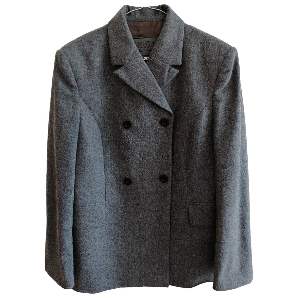 Versus \N Grey Wool jacket for Women 46 IT