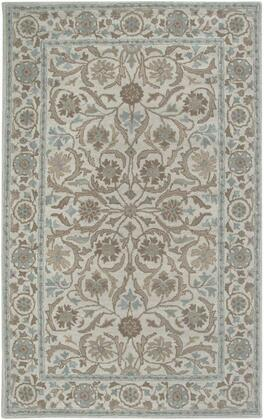 Ashlyn Collection ASHAL257300040305 3' x 5' Rectangle Small Area Hand-Tufted New Zealand Wool Blend Rug in