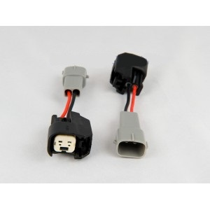 Fuel Injector Clinic PADPUtoT4 Set of 4 US Car/EV6 (female) to Toyota (male) Injector Plug Adaptors