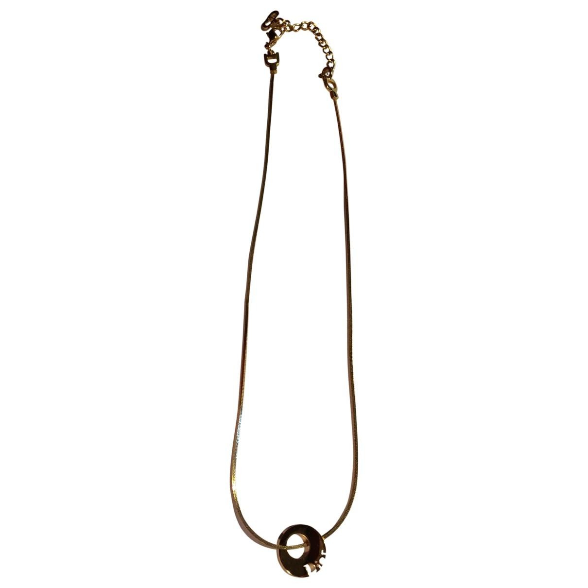 Dior - Collier   pour femme en metal - dore