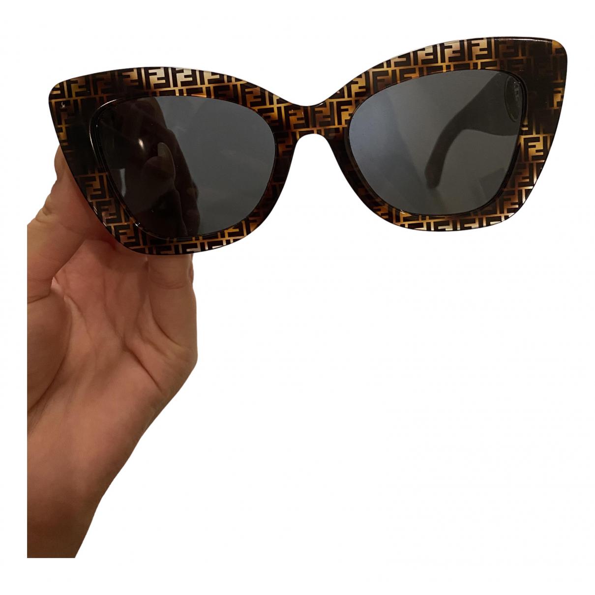 Fendi \N Sonnenbrillen in  Braun Kunststoff