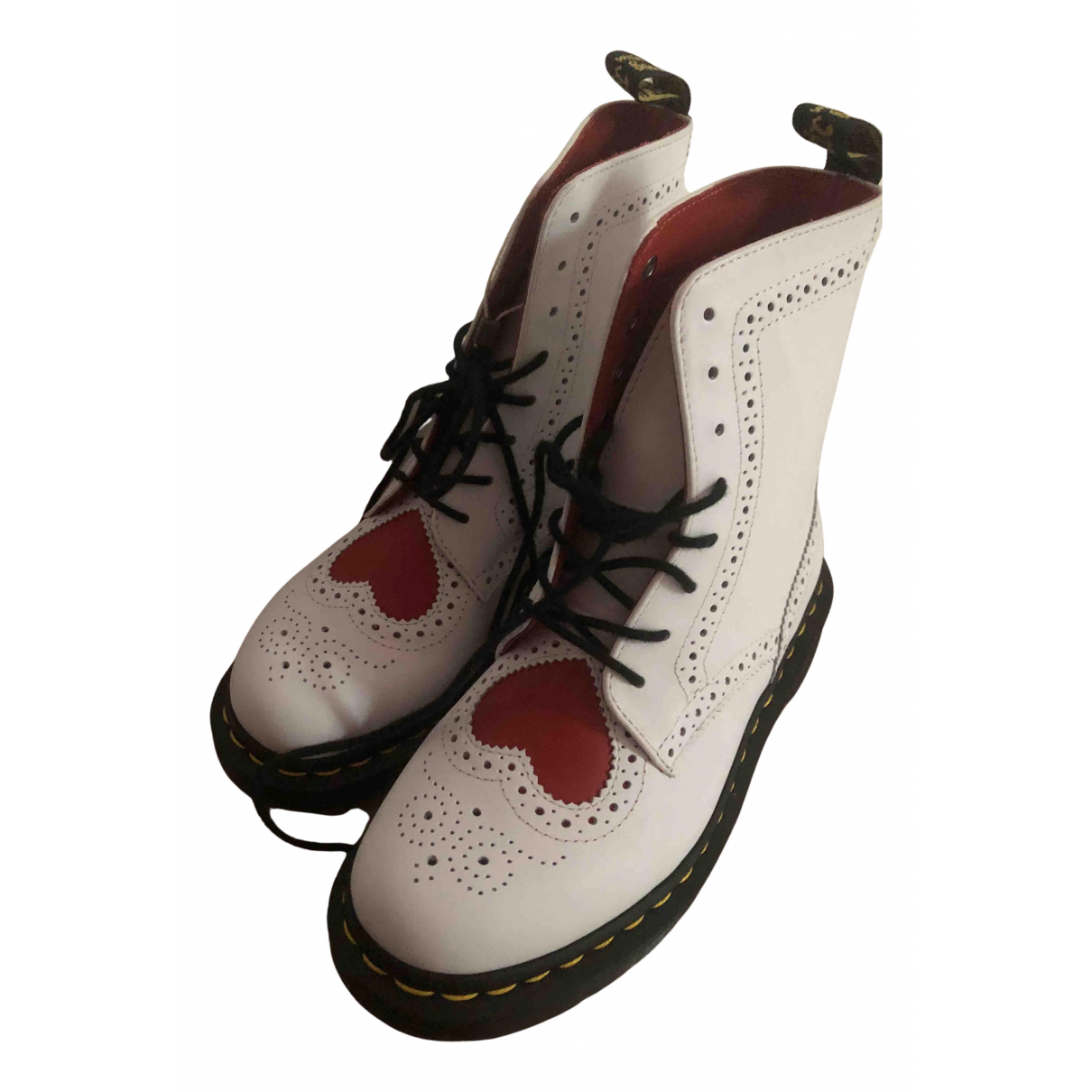 Dr. Martens 1460 Pascal (8 eye) Stiefel in  Weiss Leder
