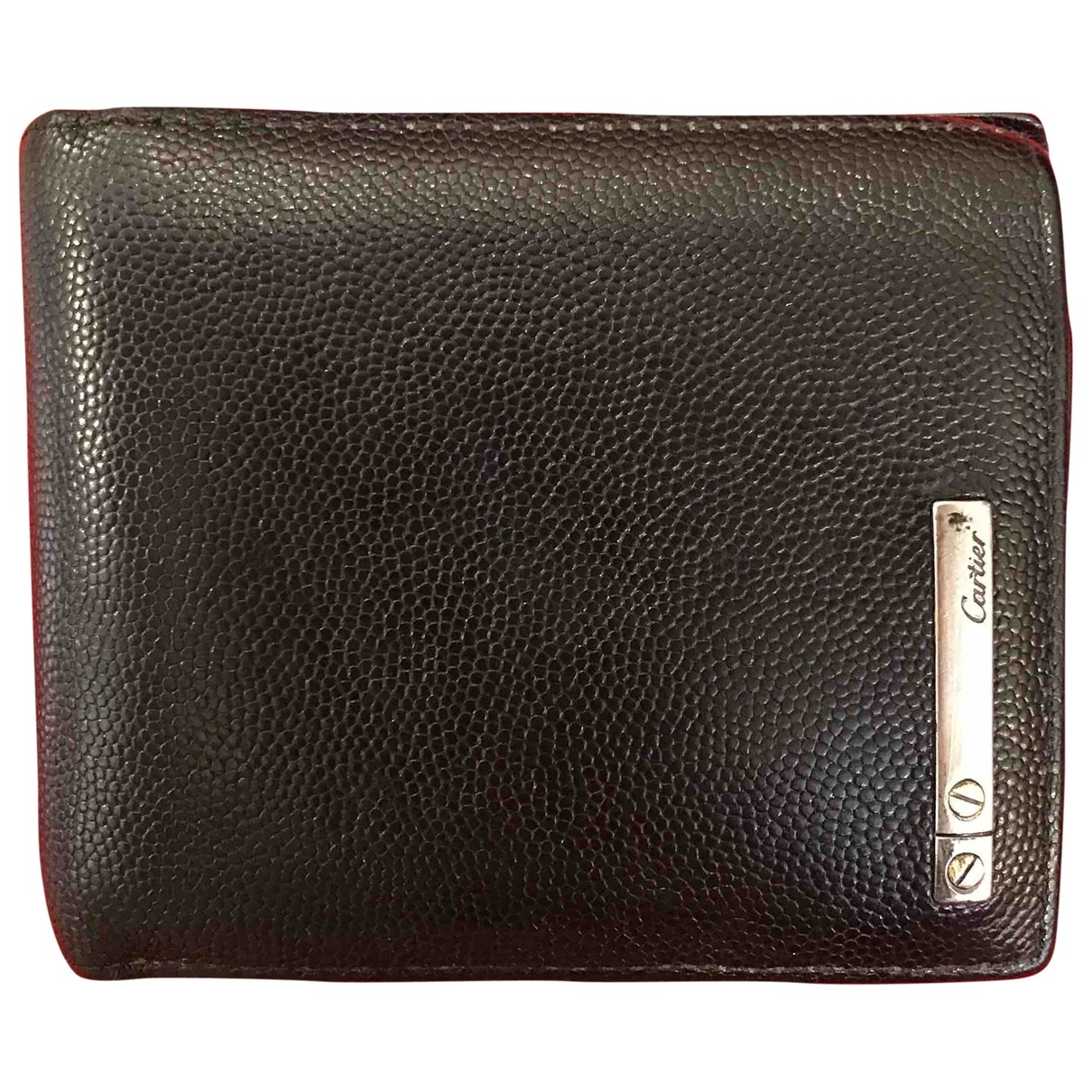 Cartier \N Black Leather Small bag, wallet & cases for Men \N