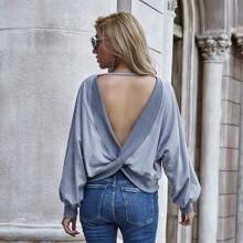 Sweatshirt mit Twist und Raglanaermeln