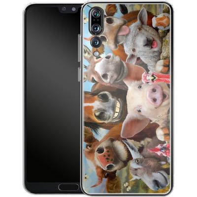 Huawei P20 Pro Silikon Handyhuelle - Farm Selfie von Howard Robinson