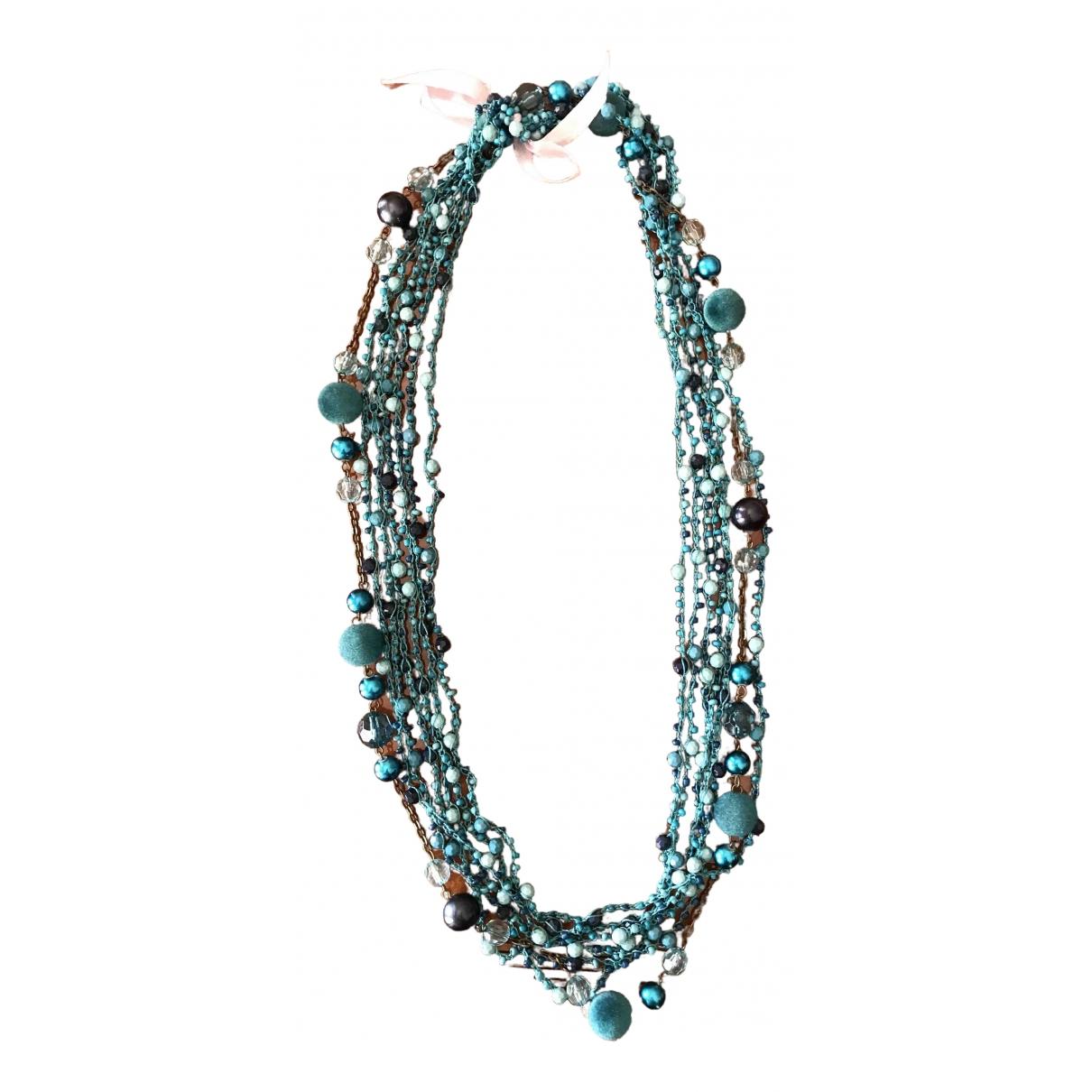 - Collier   pour femme en metal - turquoise