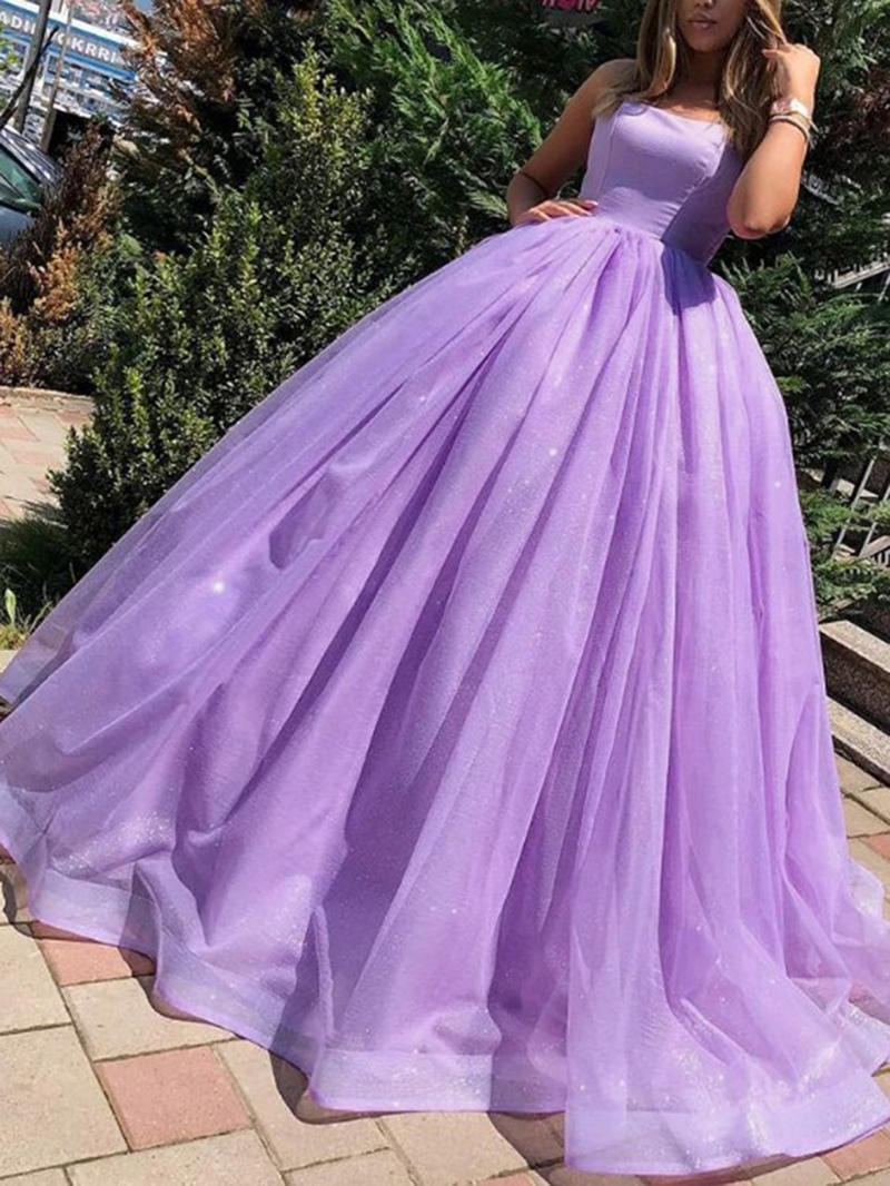 Ericdress Sleeveless Ball Gown Floor-Length Spaghetti Straps Quinceanera Dress 2020