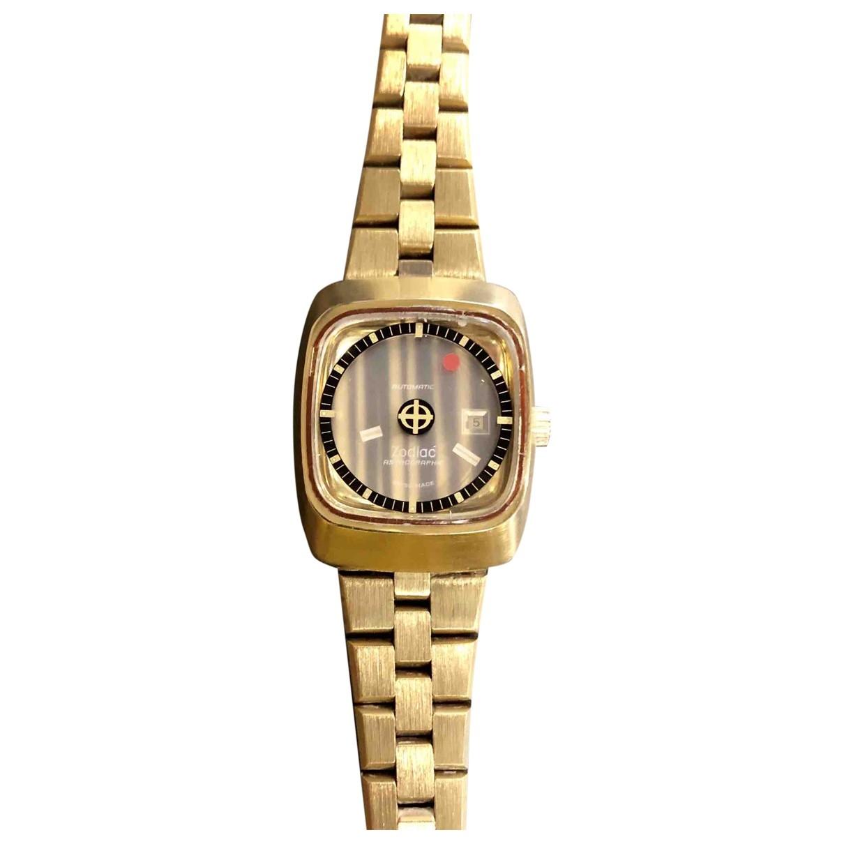 Zodiac - Montre   pour femme en plaque or - dore