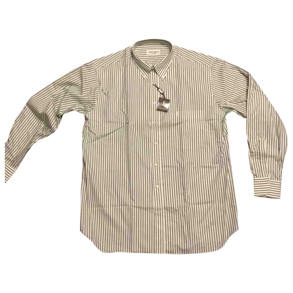 Yves Saint Laurent \N Cotton Shirts for Men 42 EU (tour de cou / collar)