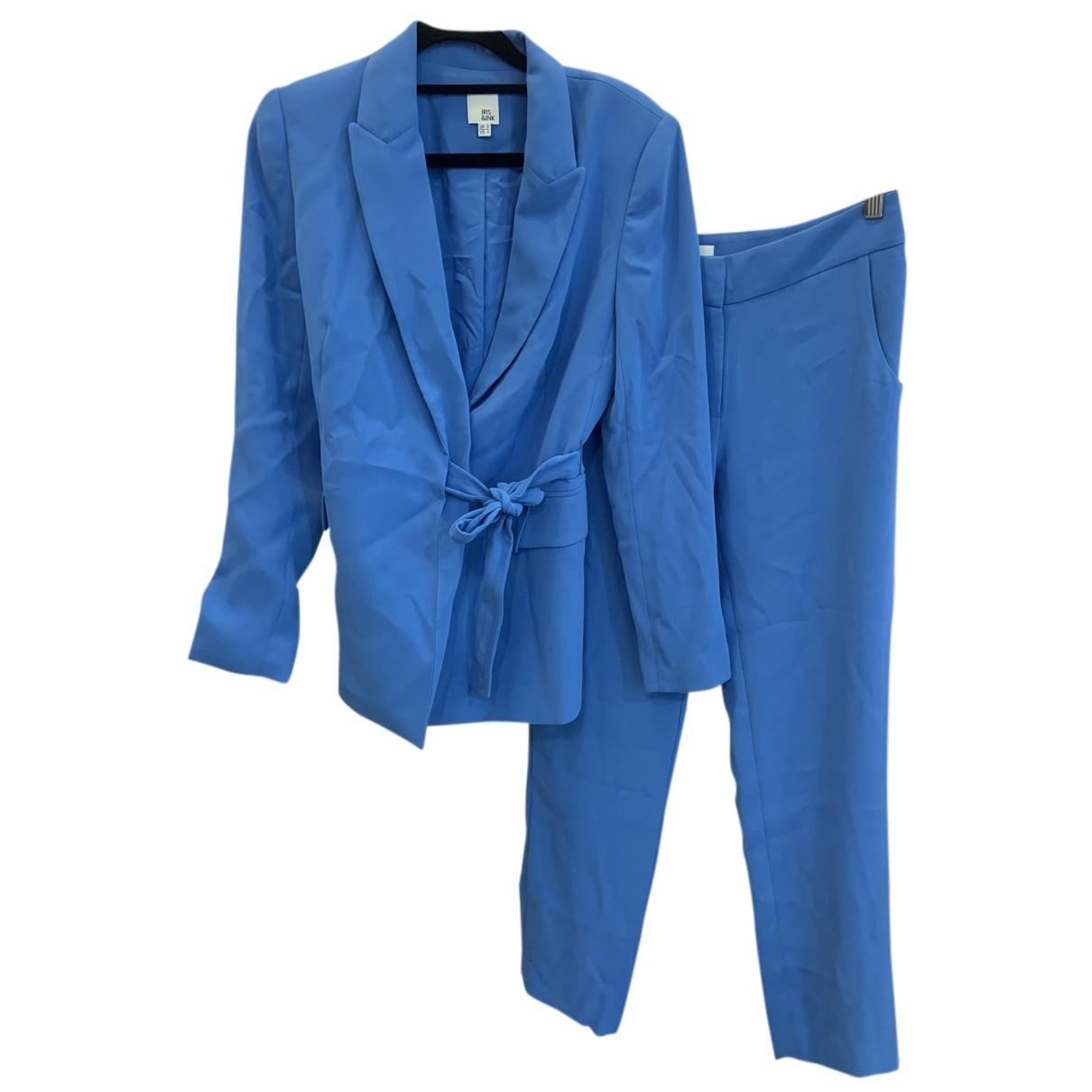 Iris & Ink N Blue jacket for Women 8 UK