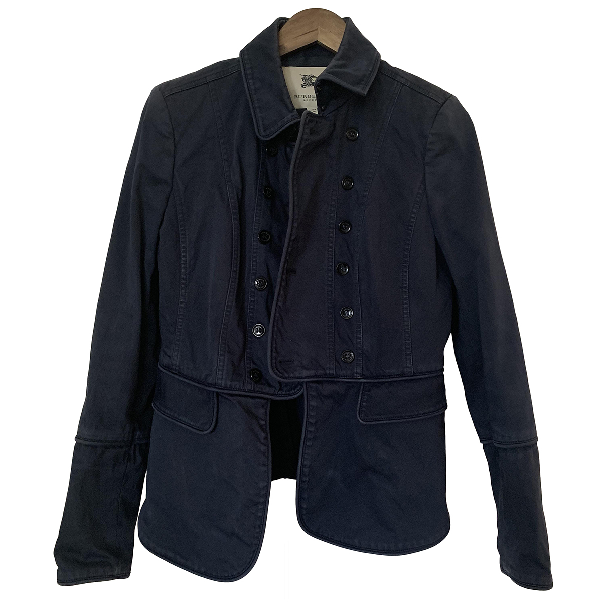 Burberry - Veste   pour femme en coton - bleu