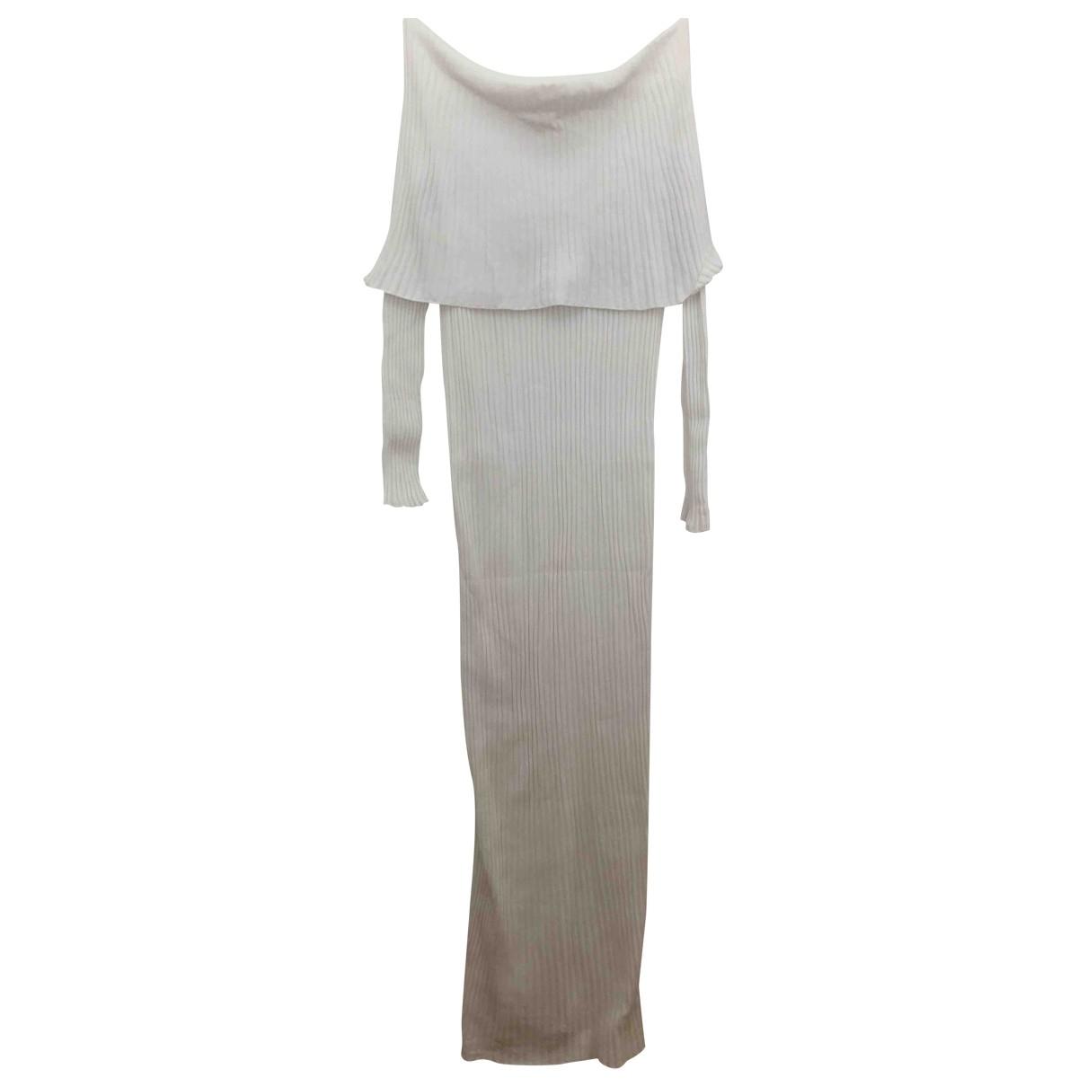 Mango \N Kleid in  Weiss Synthetik