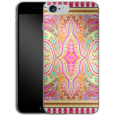 Apple iPhone 6 Plus Silikon Handyhuelle - Paisley Pink von Amy Sia