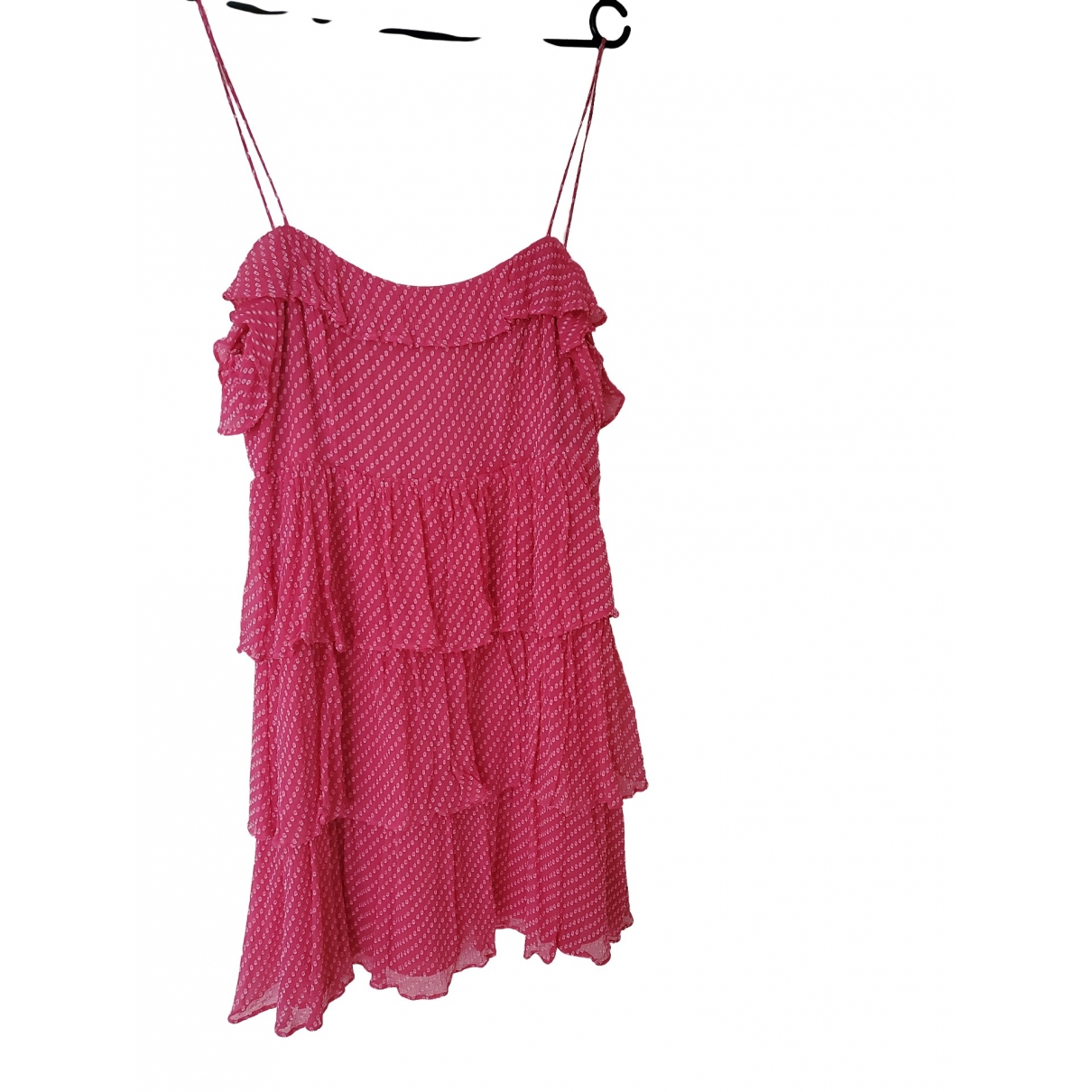 Claudie Pierlot \N Pink Silk dress for Women 40 FR