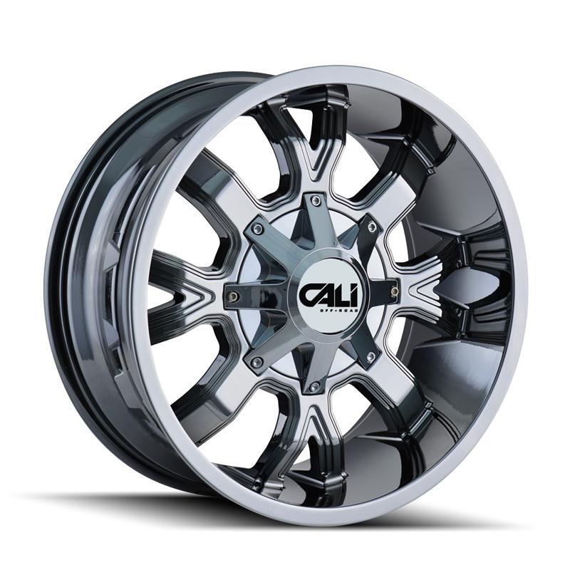 Cali Off-Road 9104-2937C18 Dirty 9104 Chrome 20x9 6x135 | 6x139.7 18mm 108mm Wheel