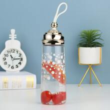 1 pieza botella de lunares transparente