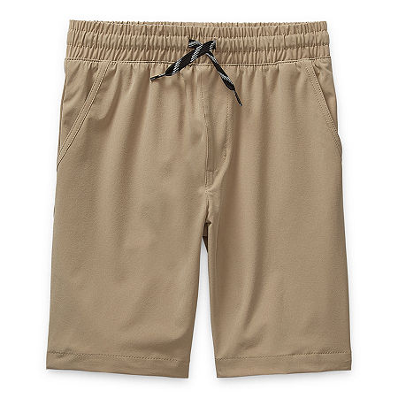 Arizona Little & Big Boys Adjustable Waist Hybrid Short, X-small (6-7) , Beige
