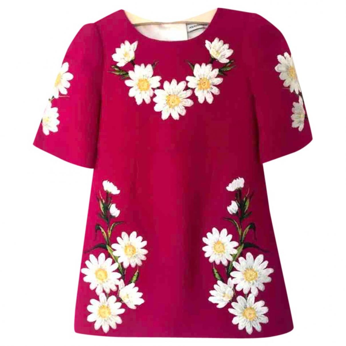 Dolce & Gabbana - Robe    pour enfant en laine - rose