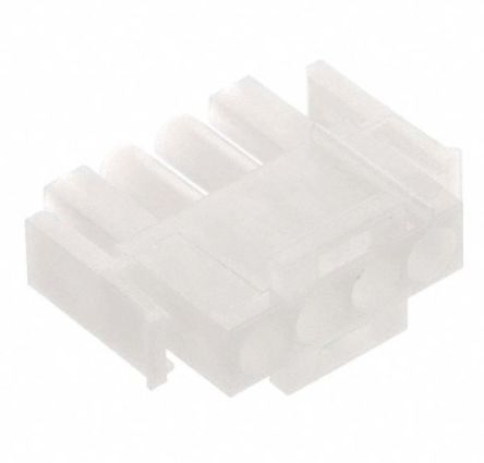 TE Connectivity , Universal MATE-N-LOK Male Connector Housing, 6.35mm Pitch, 4 Way, 1 Row