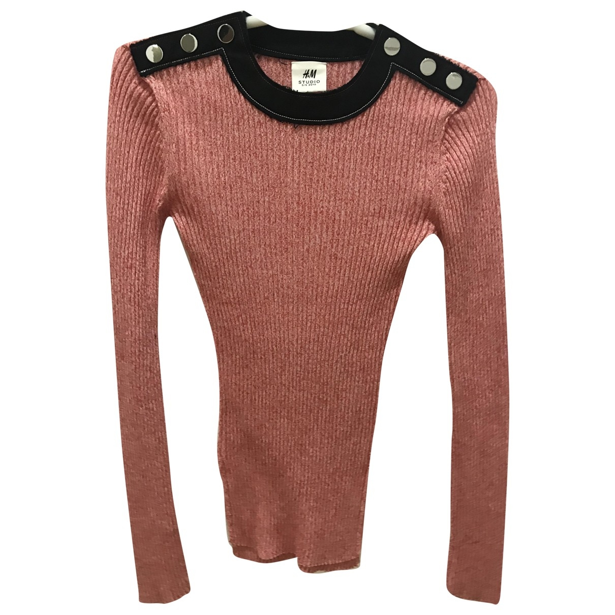 H&m Studio - Pull   pour femme en coton - rose