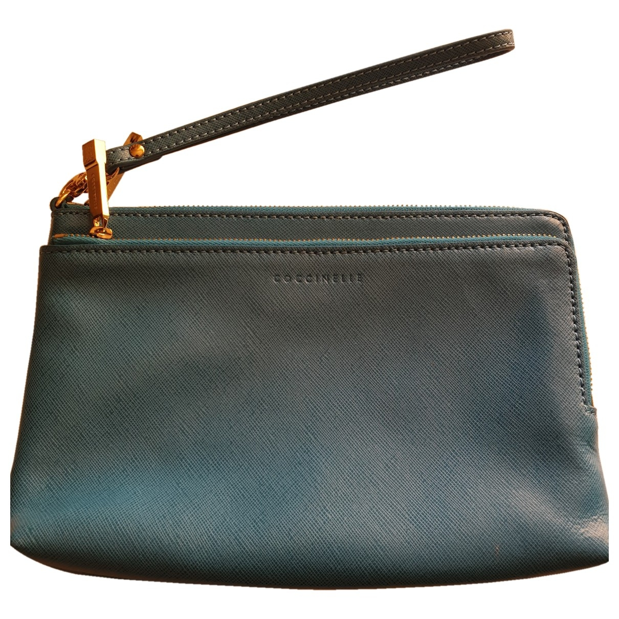 Coccinelle \N Turquoise Leather Purses, wallet & cases for Women \N