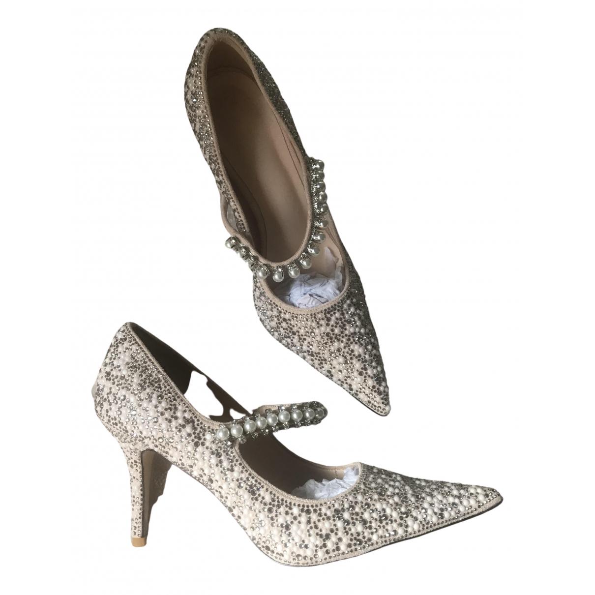 No Collection \N Beige Glitter Heels for Women 39 EU
