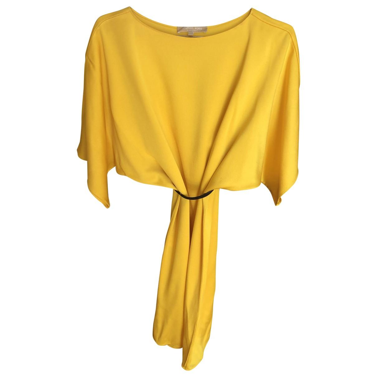 Michael Kors \N Kleid in  Gelb Seide