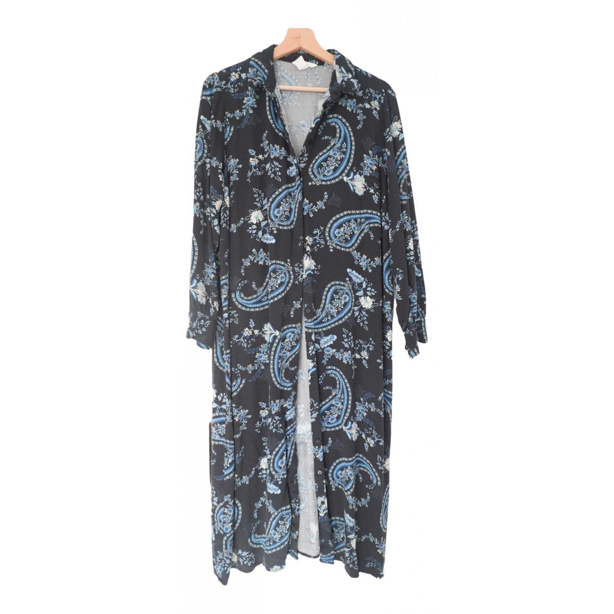 Non Signe / Unsigned \N Kleid in  Marine Baumwolle