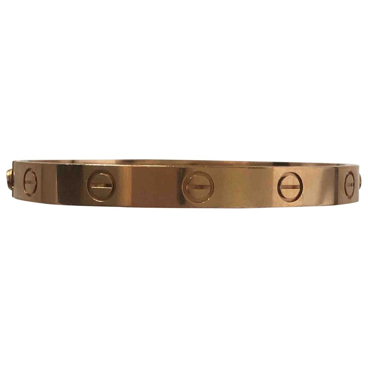 Cartier - Bracelet Love pour femme en or rose - rose