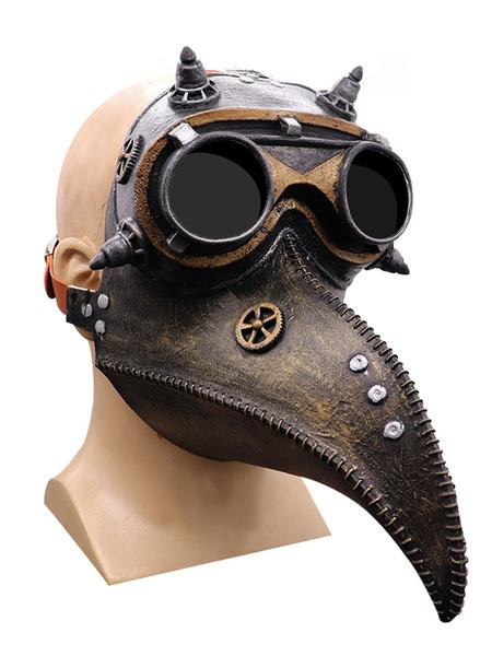 Milanoo Plague Doctor Bird Mask Long Nose Beak Steampunk Accesorios para disfraces de Halloween