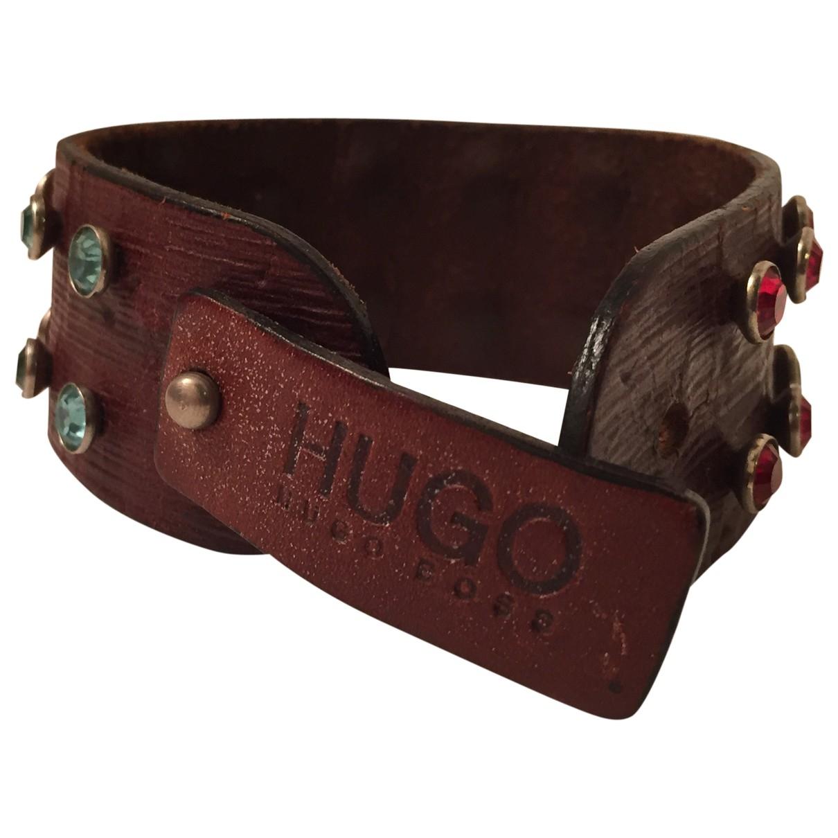 Hugo Boss - Bracelet   pour femme en cuir - marron