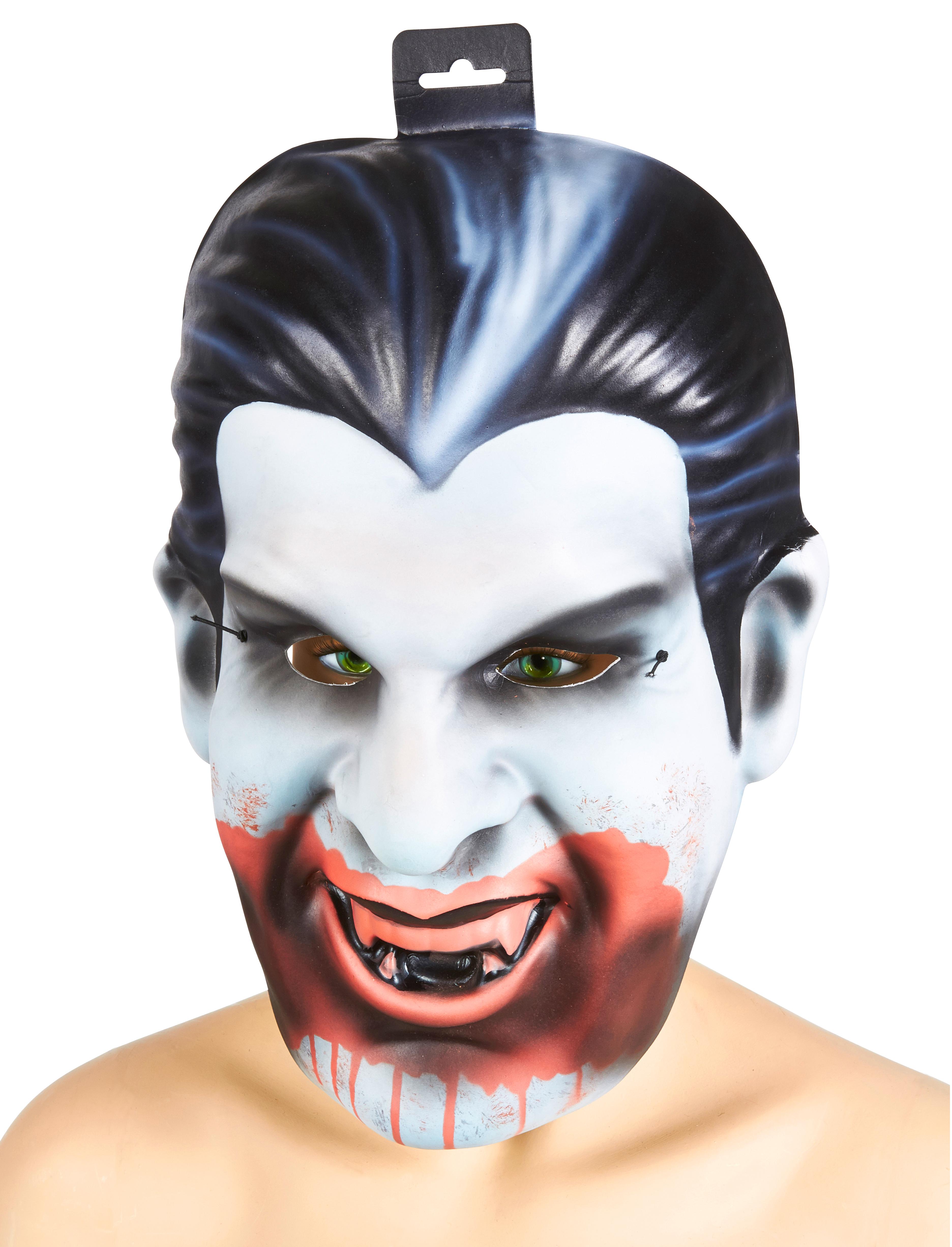 Kostuemzubehor Maske XXL Vampir Farbe: schwarz/weiss