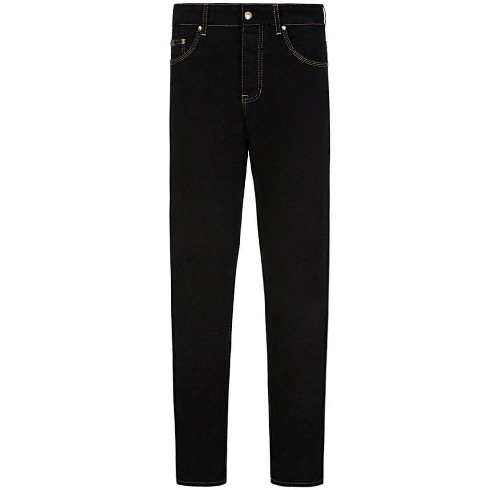 Versace Jeans Couture Milano Slim Fit Jeans Colour: BLACK, Size: 34 32