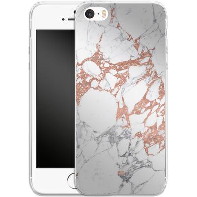 Apple iPhone 5 Silikon Handyhuelle - Marble Mix von #basic