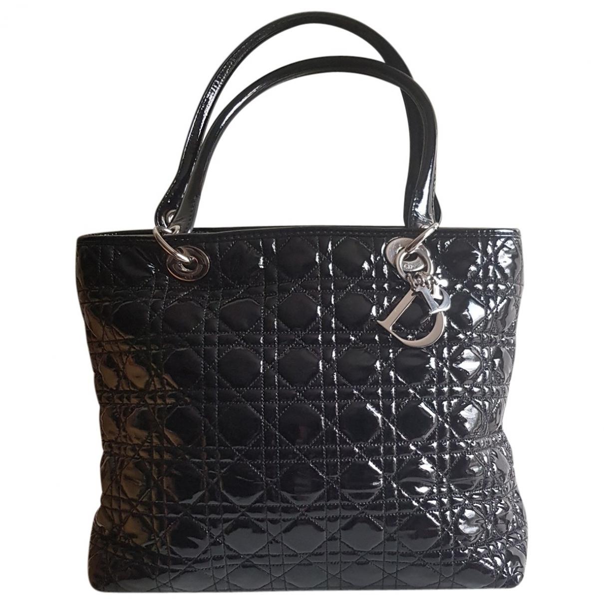 Dior Dior Soft Shopping Black Patent leather handbag for Women \N