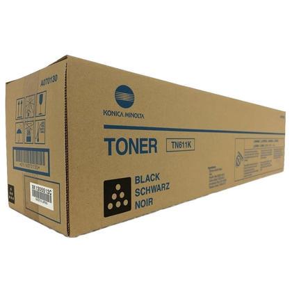 Konica-Minolta A070130 TN611K Original Black Toner Cartridge