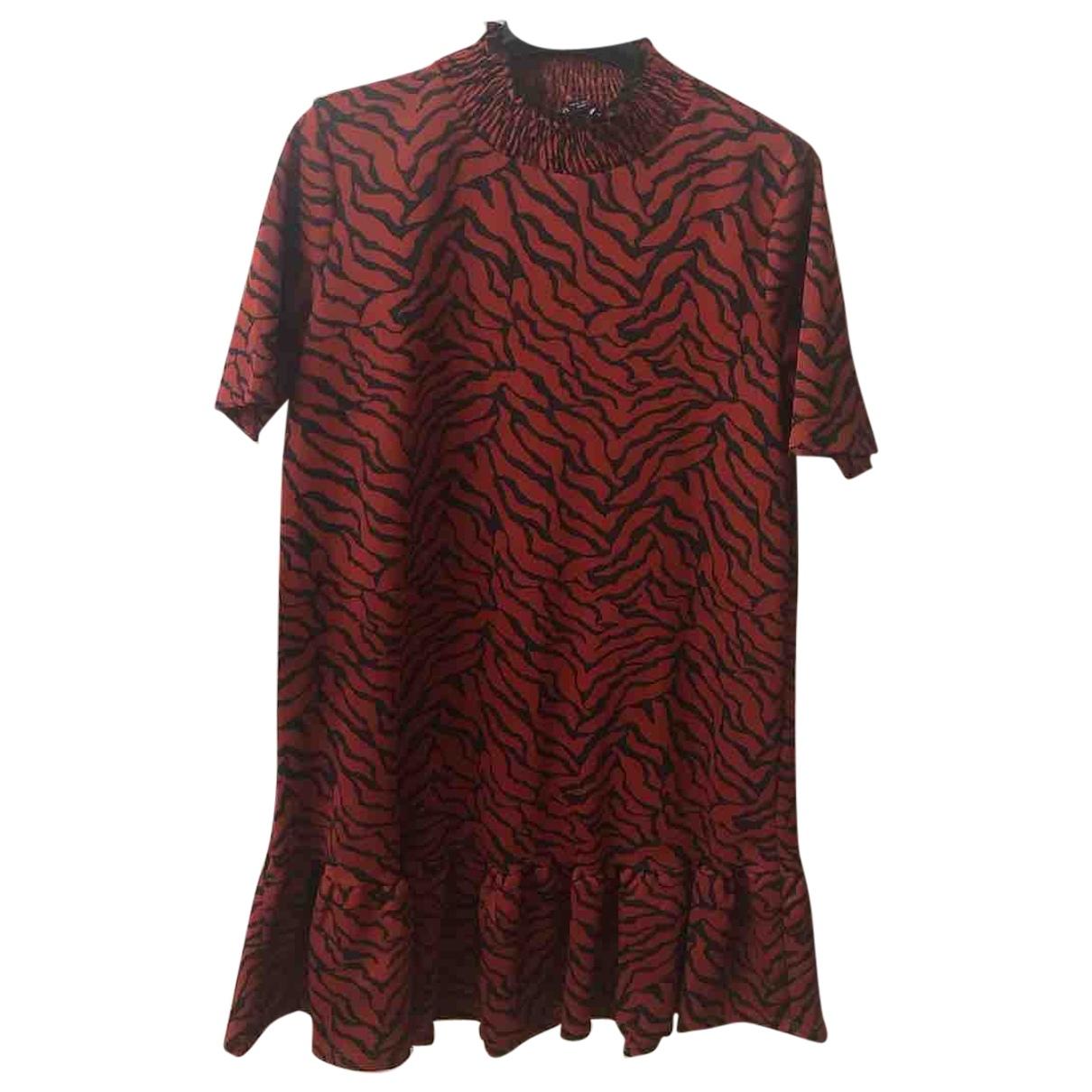 Zara \N Kleid in  Rot Polyester