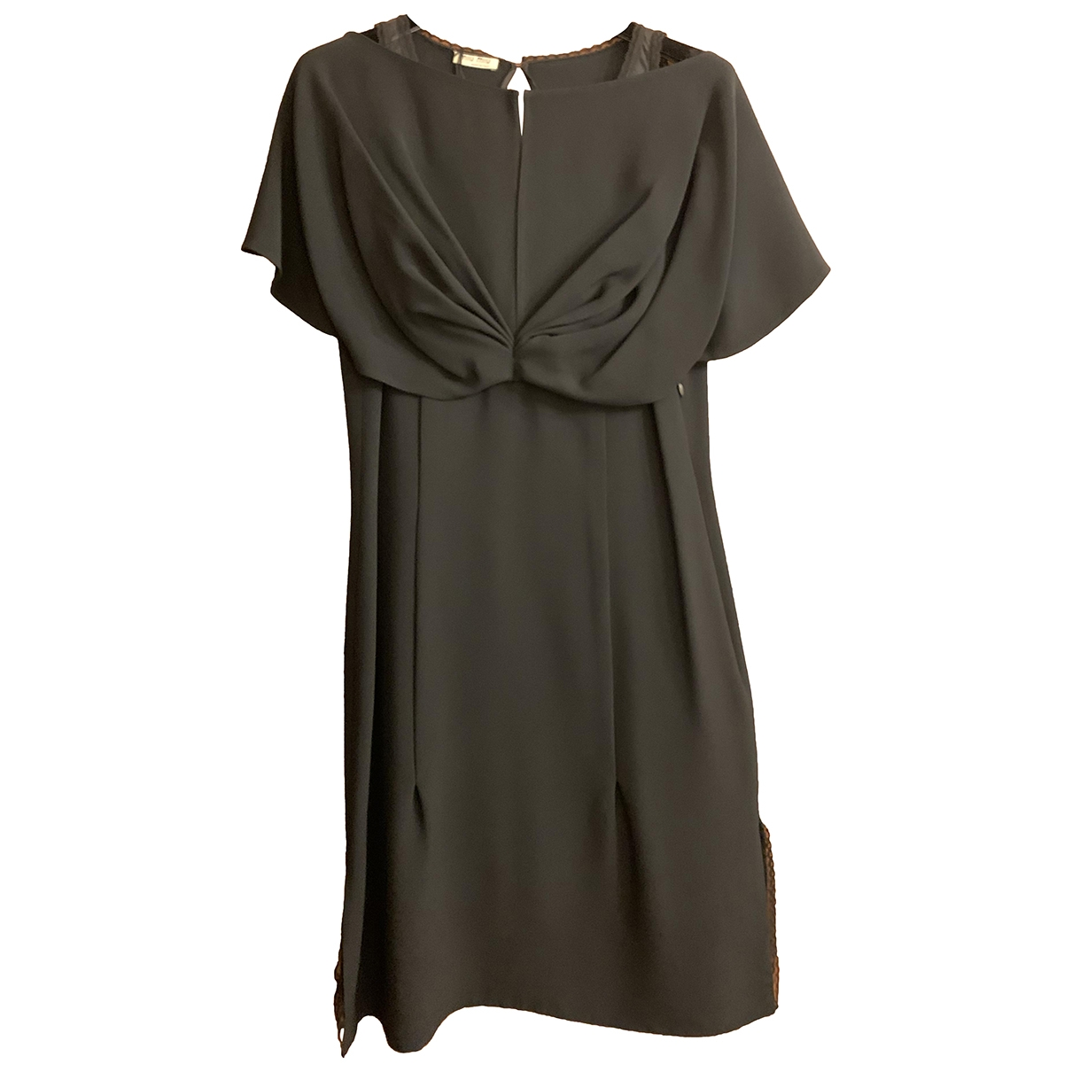 Miu Miu \N Black Silk dress for Women 40 IT