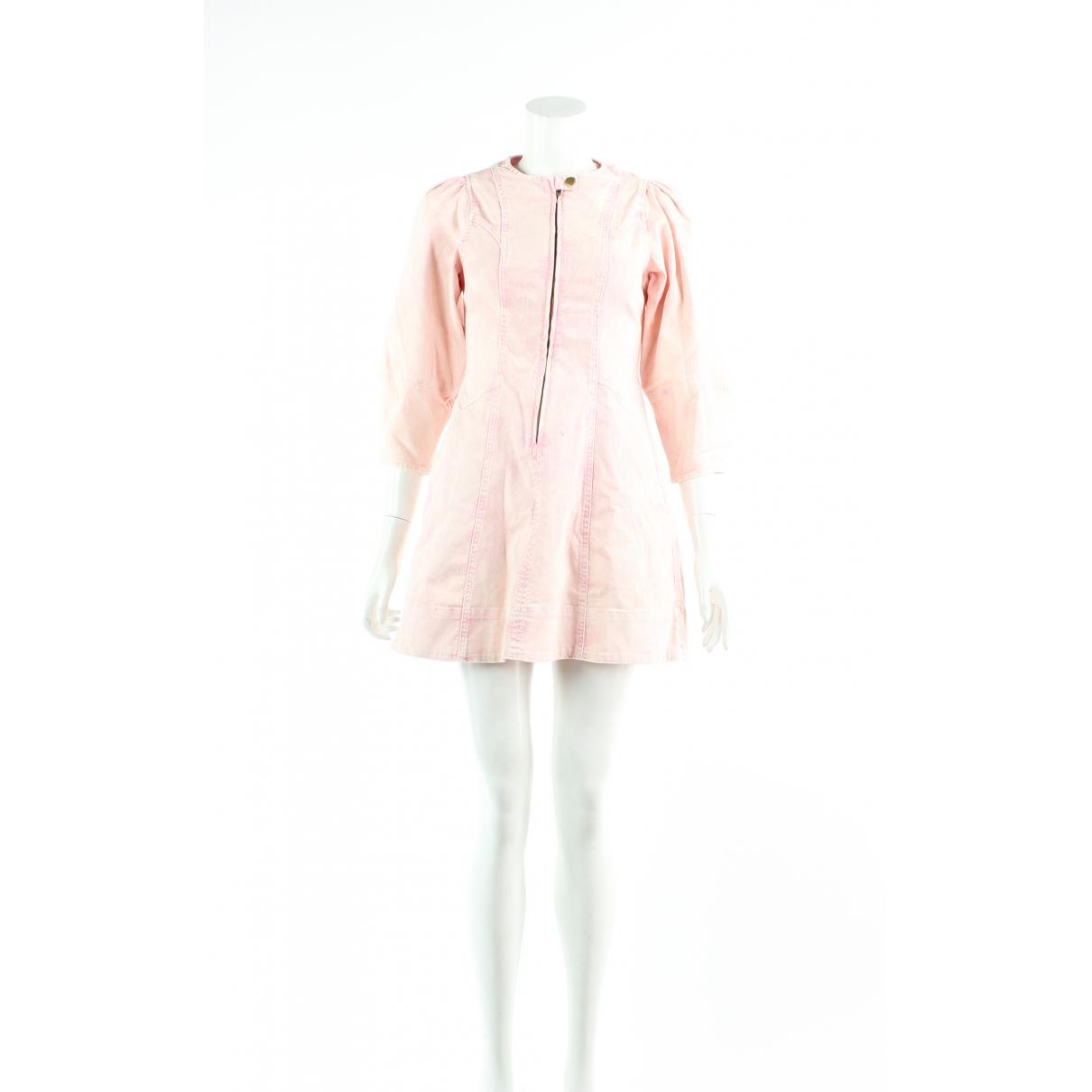 Ulla Johnson \N Kleid in  Rosa Denim - Jeans