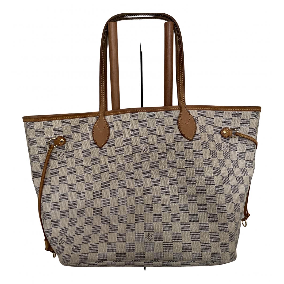 Louis Vuitton Neverfull Handtasche in  Beige Leinen