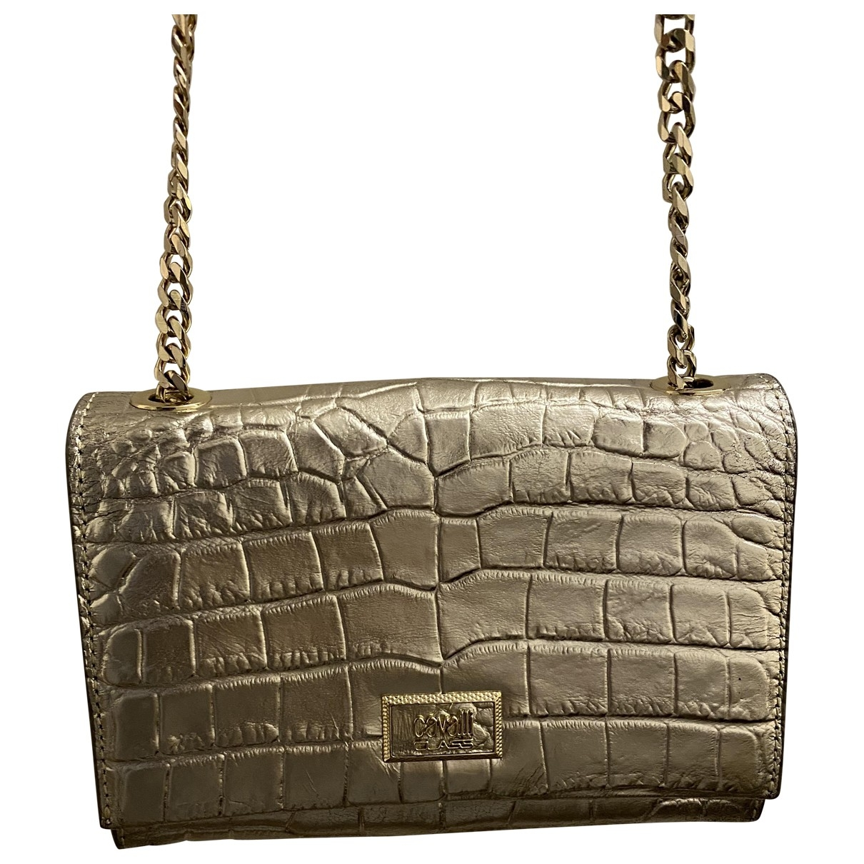 Class Cavalli \N Silver Patent leather Clutch bag for Women \N