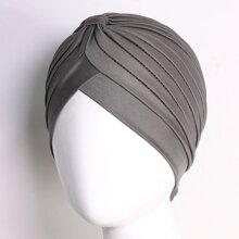 Sombrero turbante a capas unicolor
